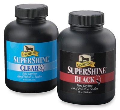 Hoof oil, Hoof Care, Silverfeet, Absorbine Supershine, Supreme Hoof Paint, Hoof Gloss, Hoof brush