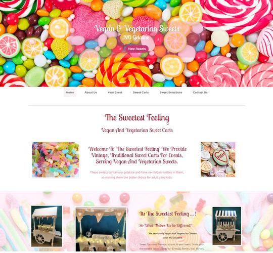 The Sweetest Feeling - Vegan Sweet Cart Hire Essex This is just the start of my business journey and I feel so confident having my website looked after by 4 Tail Connections.