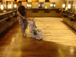 Floor sanding is provided mainly with the latest Bona Belt 10 inch dust free machines.