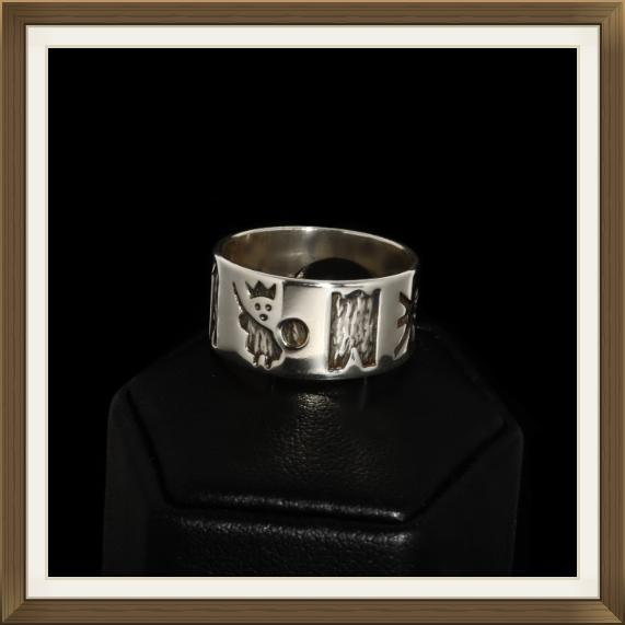 Vintage Historical Irish Silver Wedding Ring