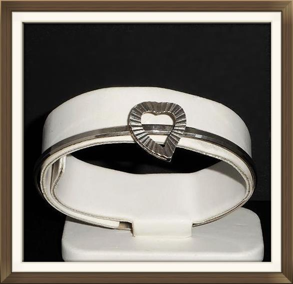 Italian Silver Heart Bangle