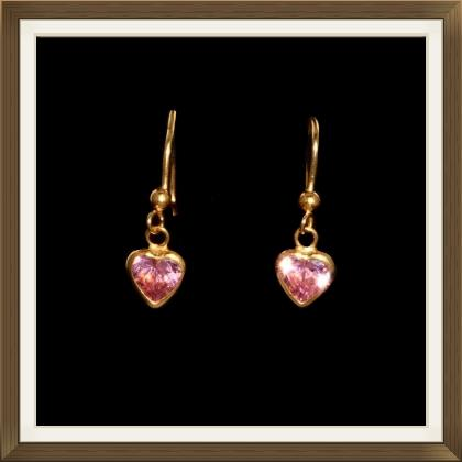 Beautiful Vintage Gold Heart Earrings