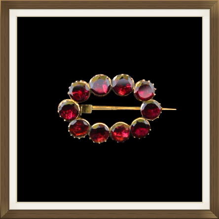 Antique Georgian Gold Garnet Brooch