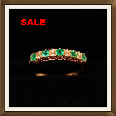Diamond & Emerald Eternity Ring