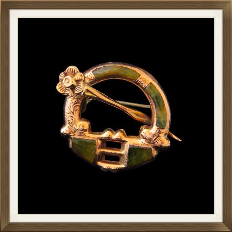 Antique Irish Gold Brooch