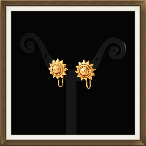 9ct Gold Victorian Earrings