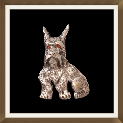 Large Art Deco Scottie Dog Brooch