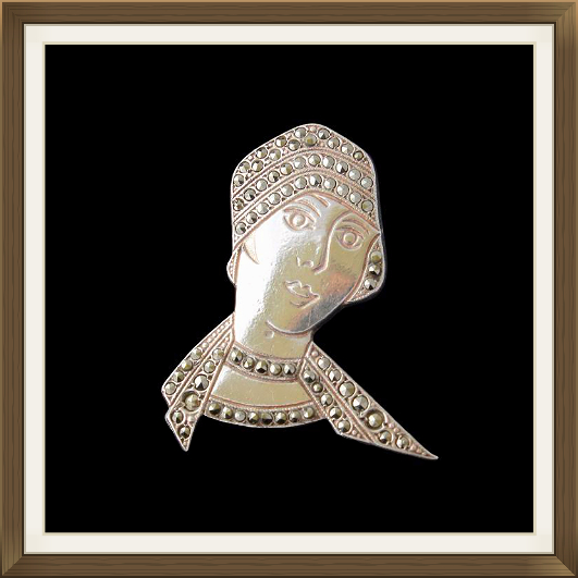 Art Deco Flapper Brooch