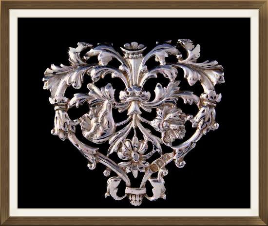 Antique Heart Brooch