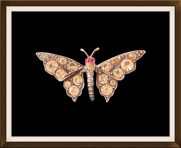 Beautiful Antique Butterfly Brooch