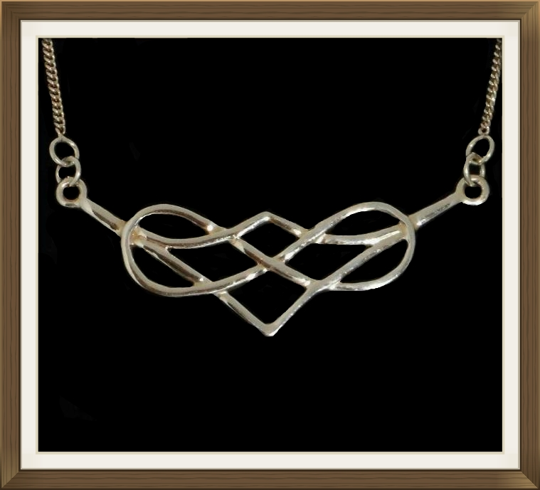 Celtic Silver Heart Necklace