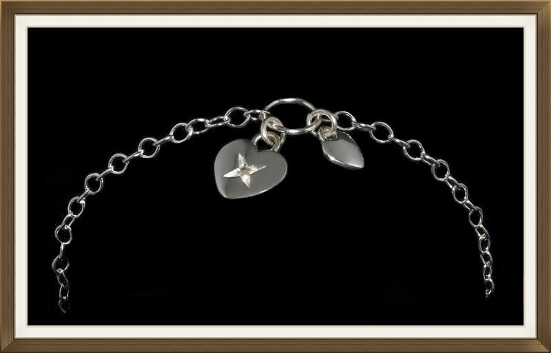 Vintage Valentines Heart Bracelet