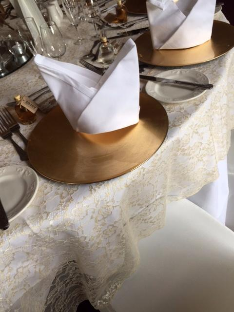 Sequin table covers and runners