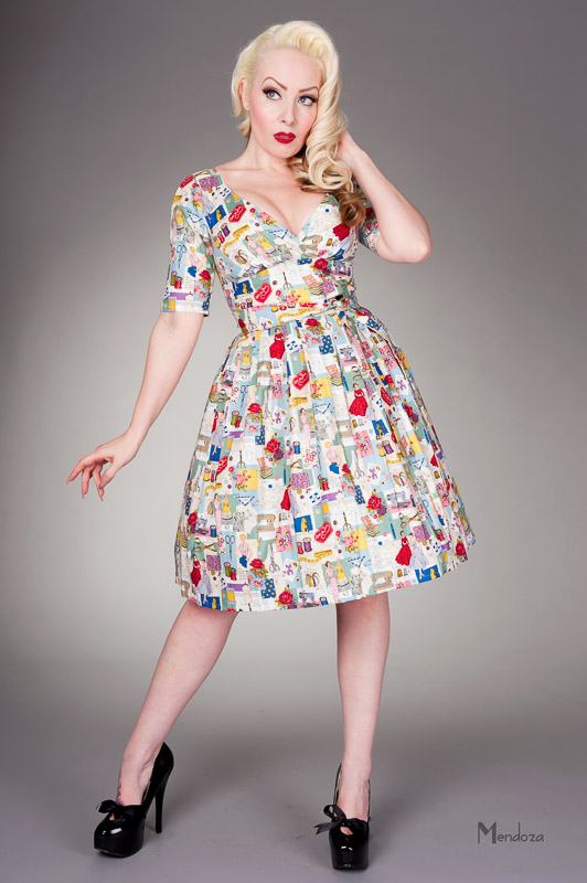 classic retro day wear dress