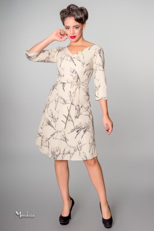 victory parade occasional dress with 34 length sleeves and a line skirt