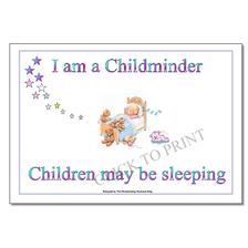 Free Childminding Posters, Poems Resources