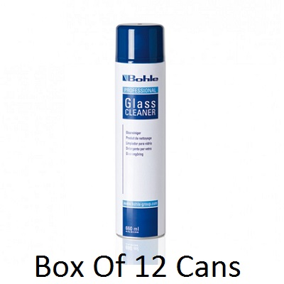 12 X Cans Of Bohle Glass Cleaner