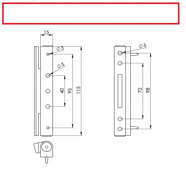 Avocet angled butt hinge diagram