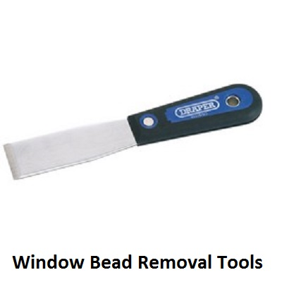 window bead removal tools, bead removal, glazing bead removal tools, glaziers knife