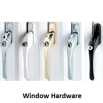 window hardware, window handles, window hinges, window repair parts, window spares