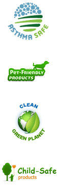 Commercial Asthma Safe, Pet- Friendly Products, Clean Green Planet & Child-Safe Products