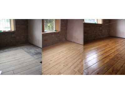 Before & After Wood Floors Sanding