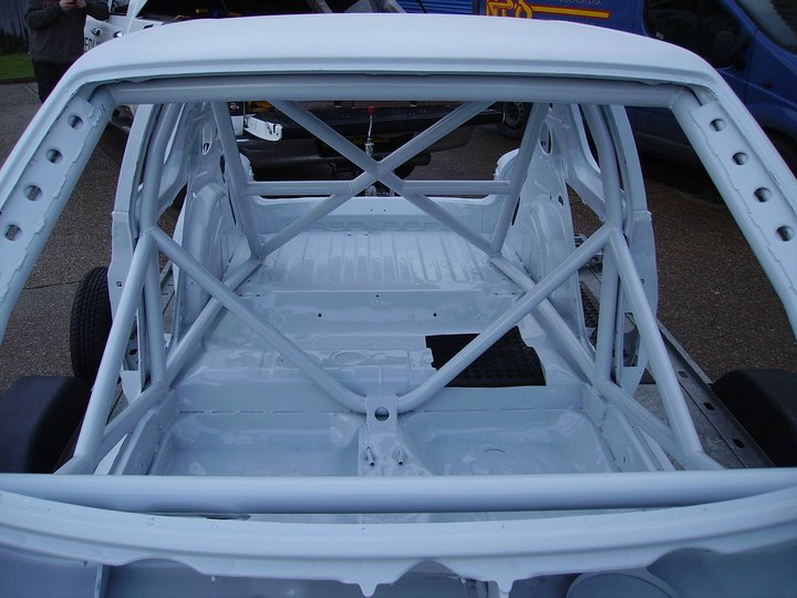 race track car prep suspension set up roll cage