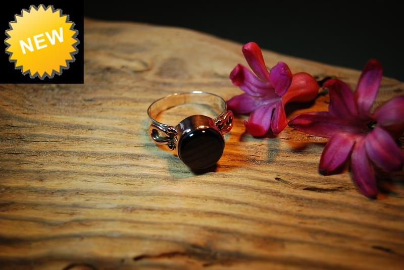 Unusual Whitby Jet Ring