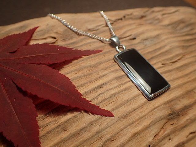 Whitby Jet  oblong pendant