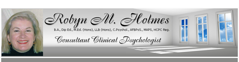Welcome to the  page of Robyn Holmes Psychologist in Grimsby, Lincolnshire and Hull