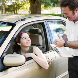 Morden driving teacher explains and is patient