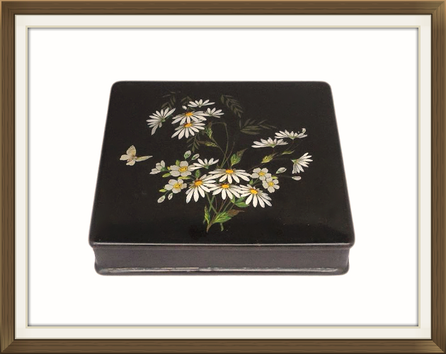 Beautiful Antique Papier Mache Jewellery Box