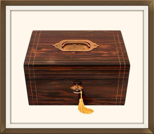 High Quality Antique Coromandel Jewellery Box