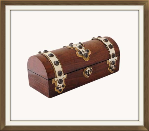 Decorative Gothic Antique Walnut Jewellery Box