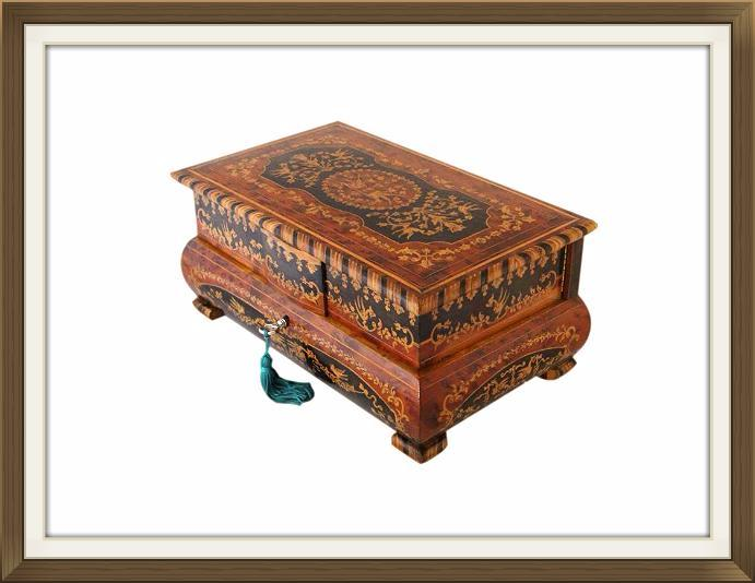 Superb Vintage Italian Inlaid Musical Jewellery Box