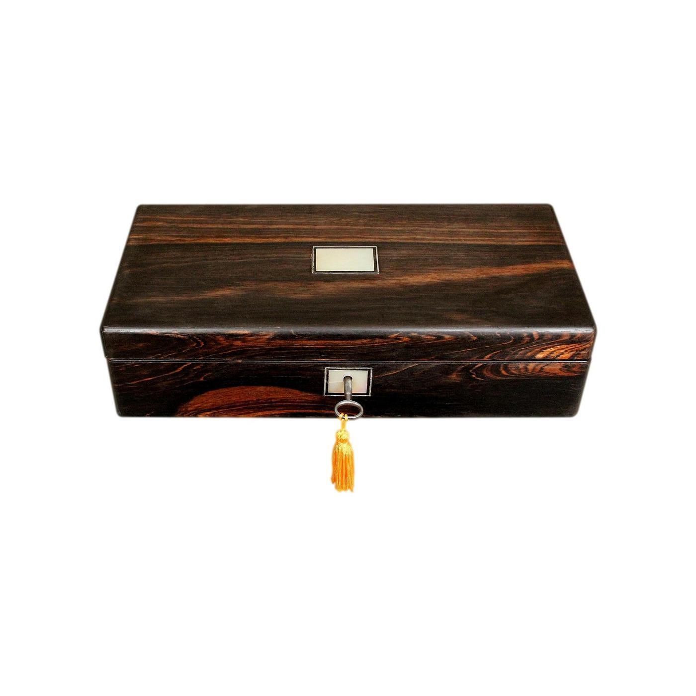 Superb Refurbished Antique Victorian Coromandel Jewellery Box