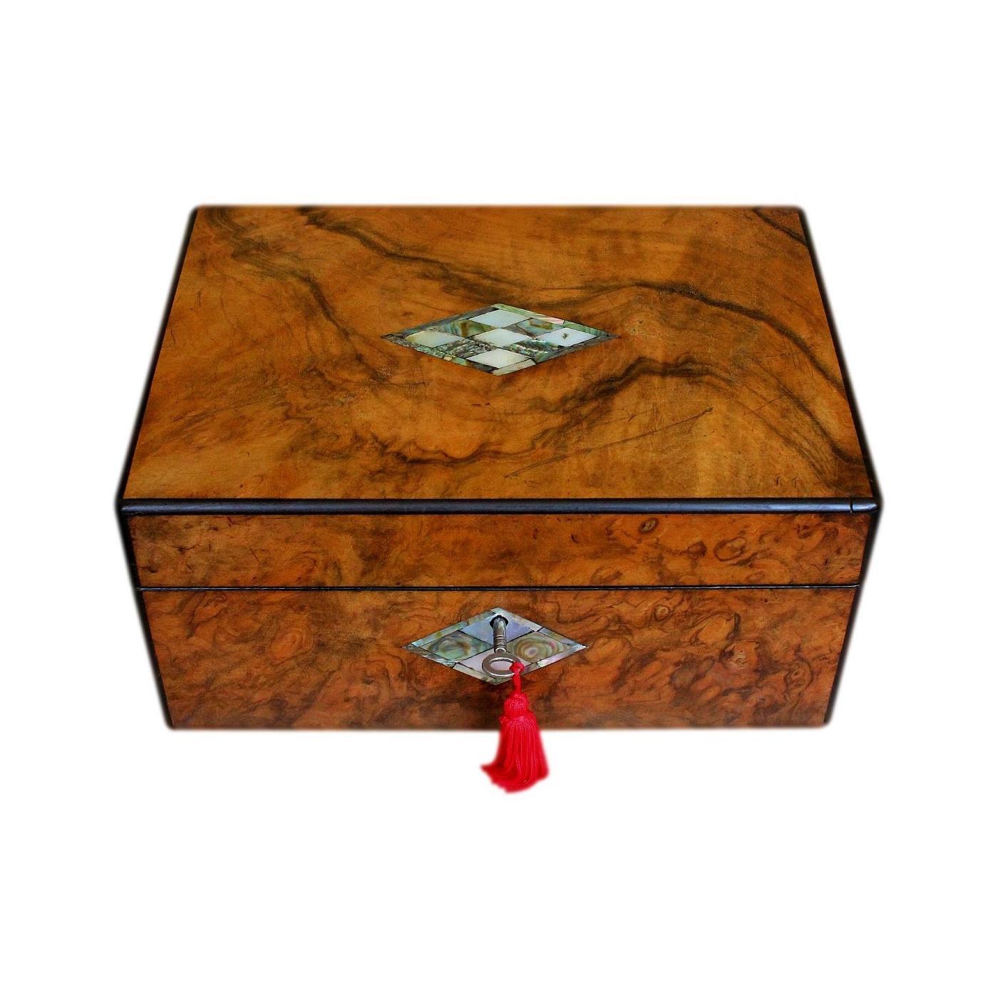 Beautifully Refurbished Antique Walnut Jewellery Box