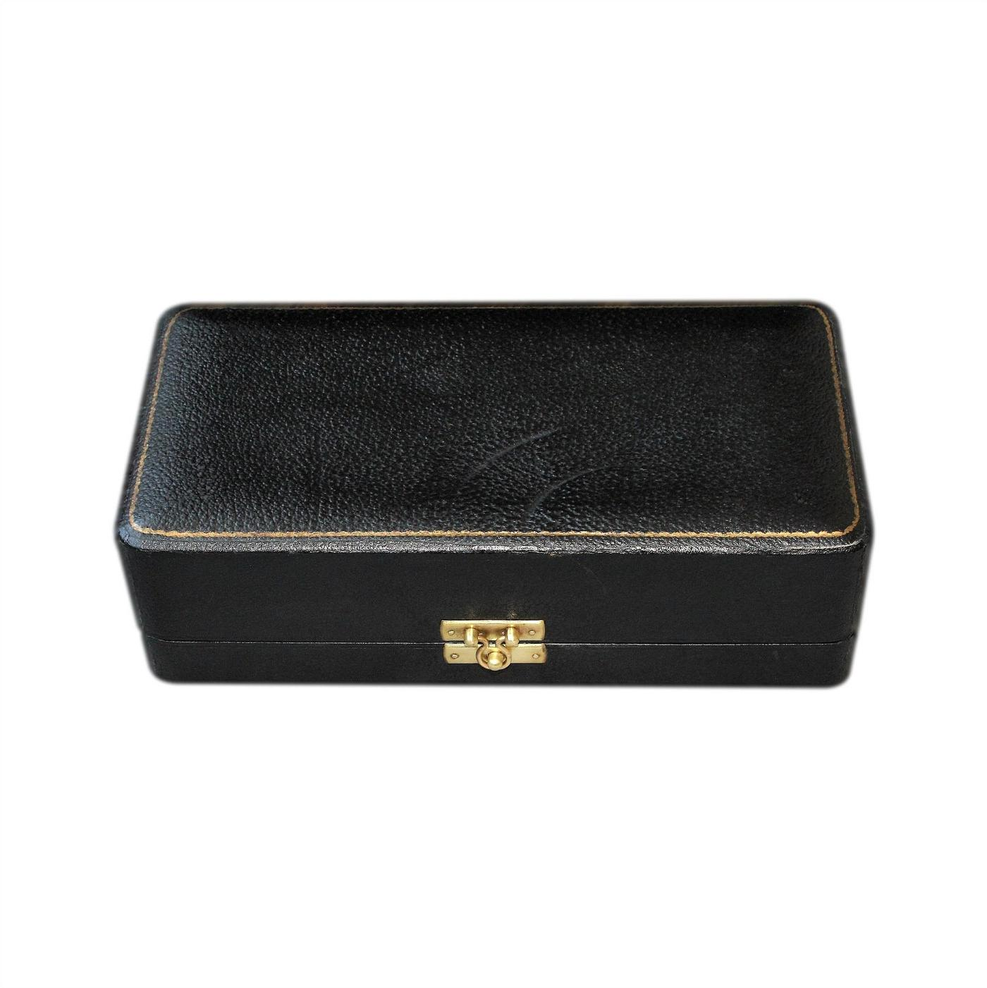 Large Silk Lined Antique Leather Presentation Box