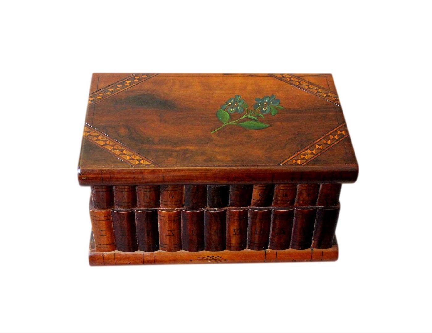 Italian Art Deco Puzzle Jewellery Box With Secret Lock And Compartment