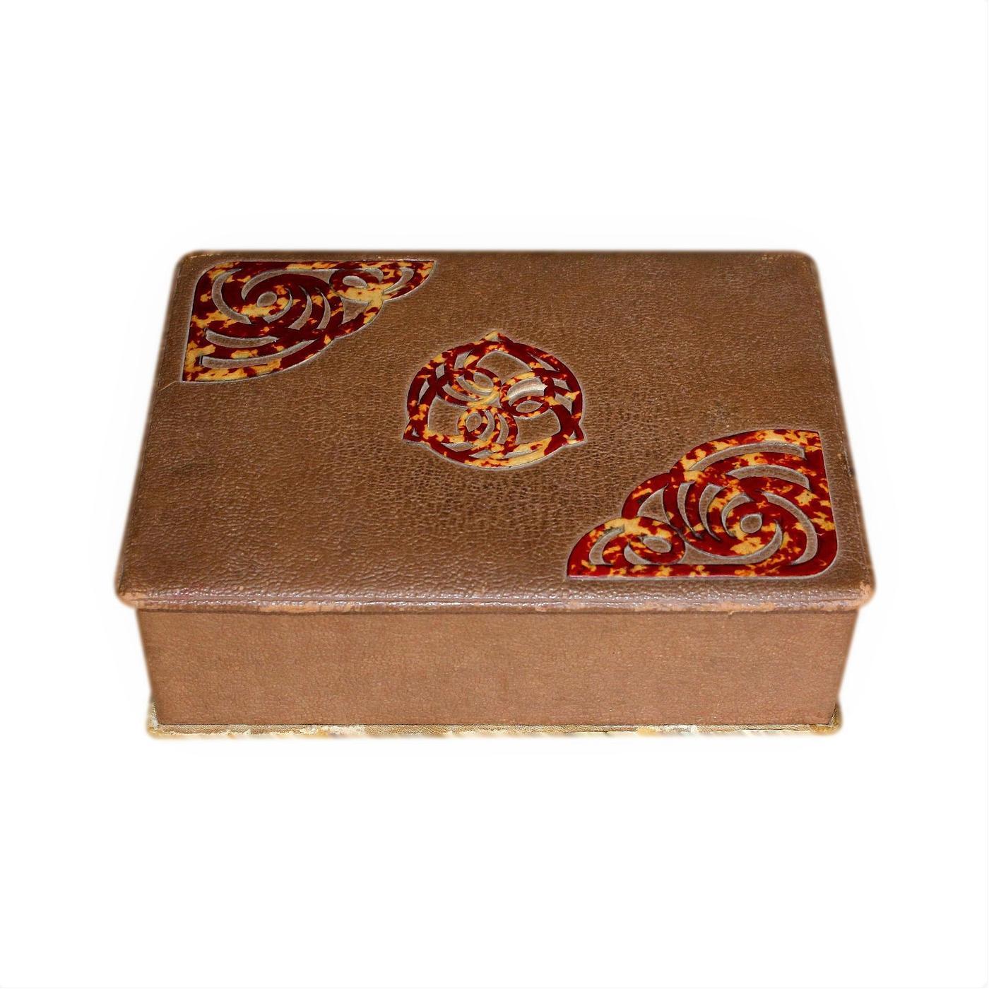 Antique Art Nouveau Arts And Crafts Jewellery Box