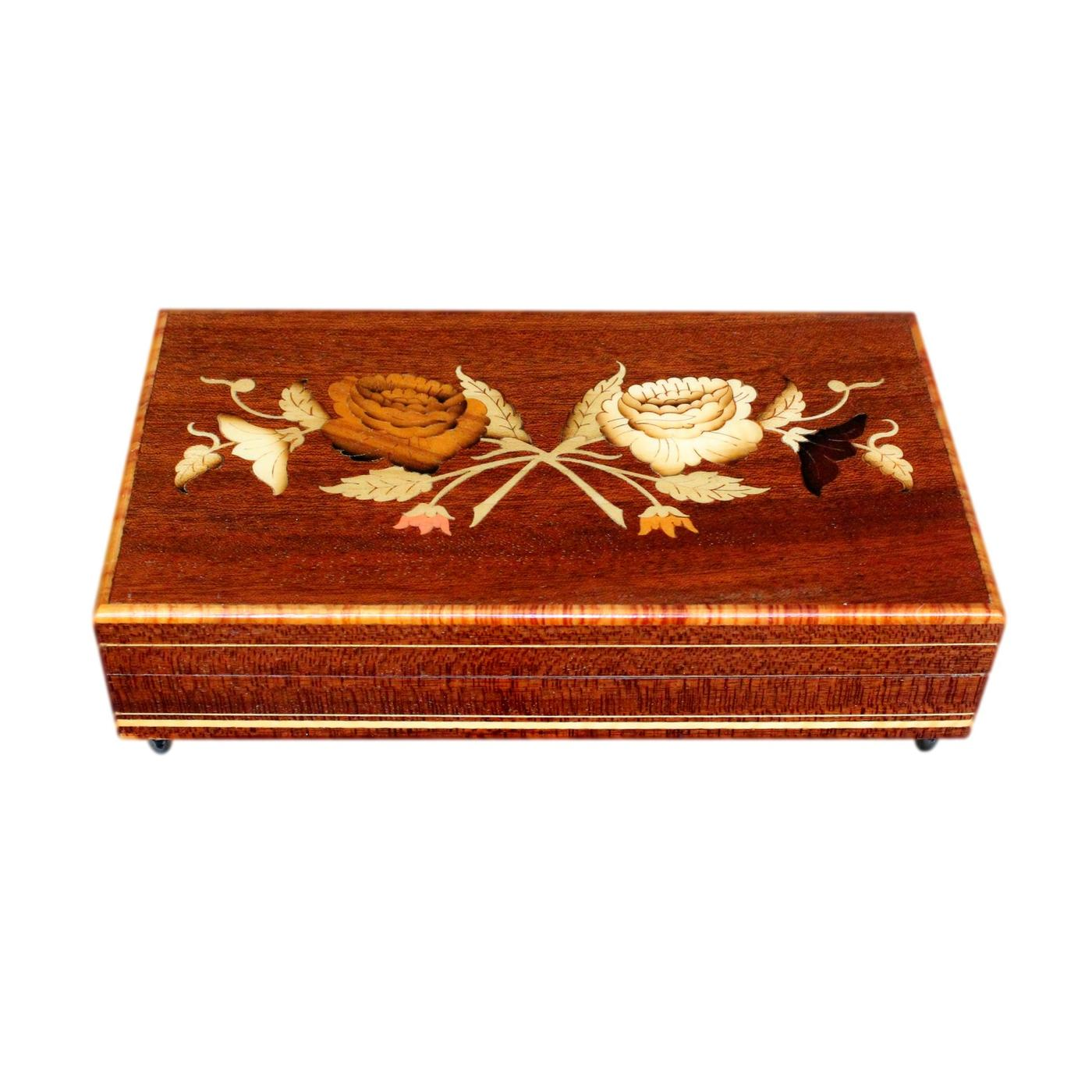 Lovely Vintage Italian Inlaid Musical Jewellery Box