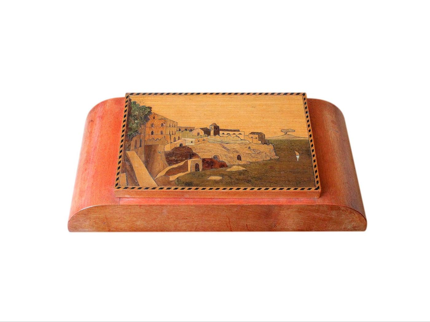 Beautiful Italian Inlaid Art Deco Jewellery Box