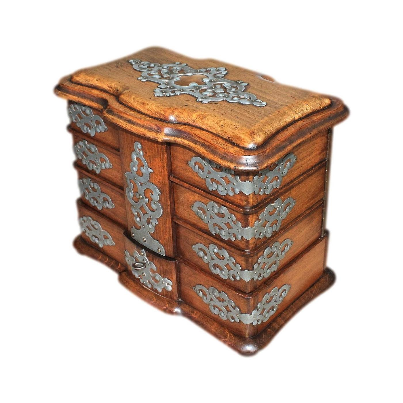 Superb Large Italian Multi Compartment Antique Jewellery Box