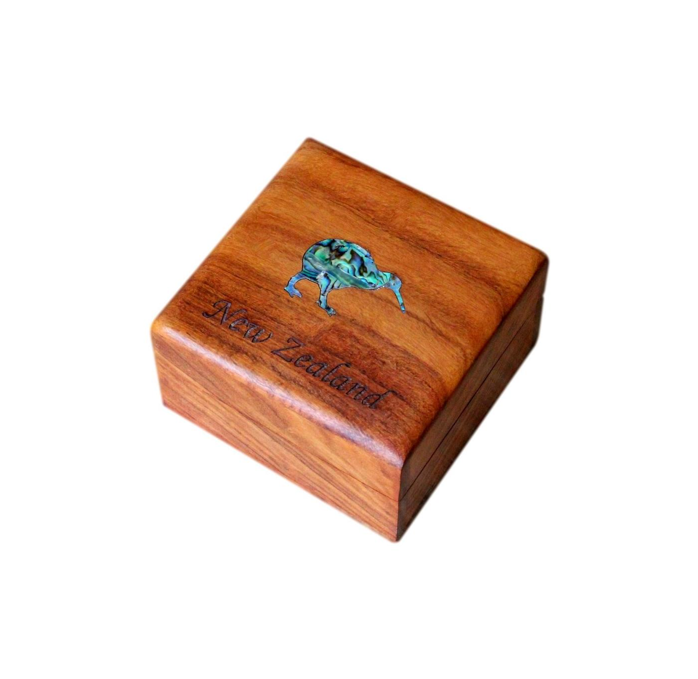 Beautiful Small Inlaid Jewellery Box From New Zealand