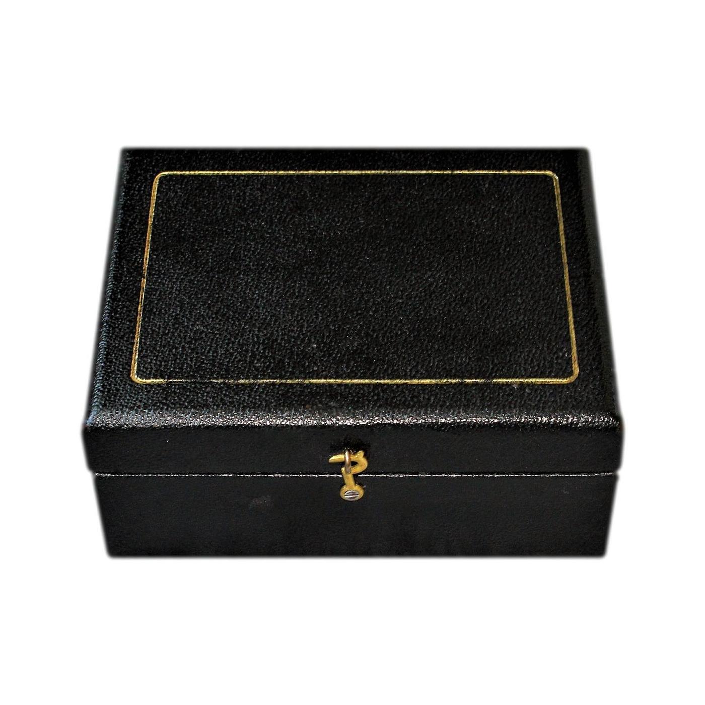 Small Edwardian Velvet Lined Antique Jewellery Box