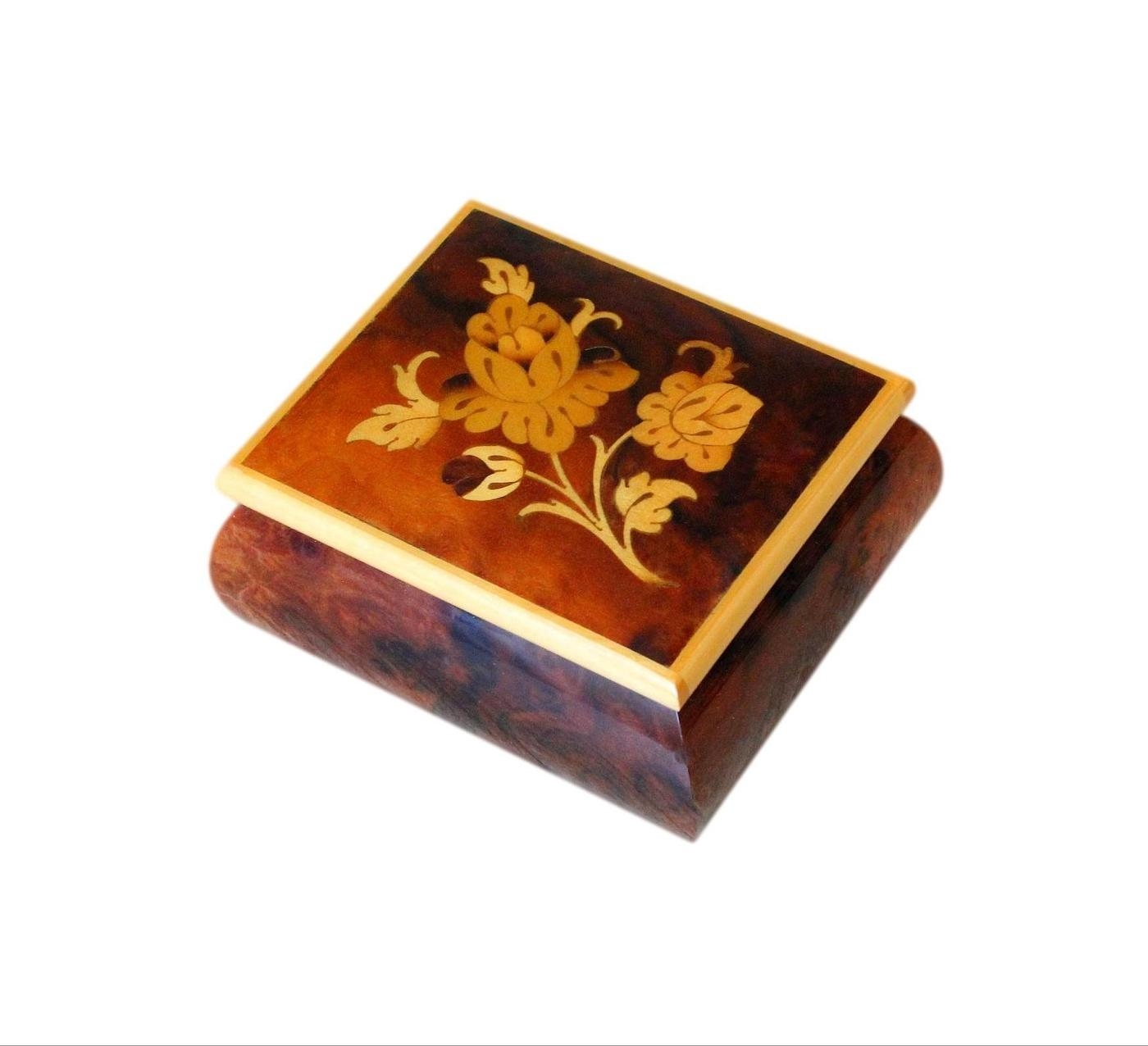 Beautifully Inlaid Small Vintage Jewellery Box From Sorrento