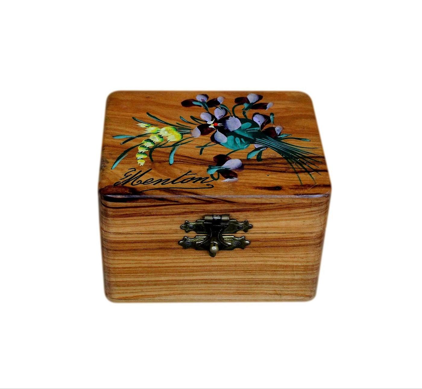 Small 1930s French Art Deco Jewellery Box From Menton