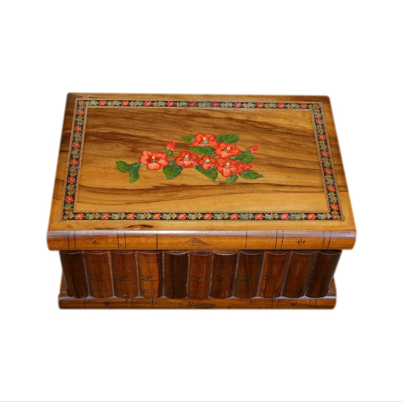 Early 20th C Puzzle Jewellery Box With Secret Lock And Compartment