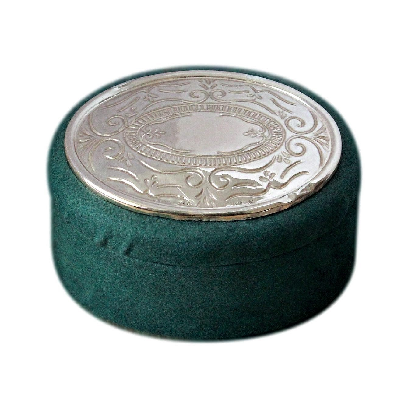 Small Italian Jewellery Box With Hallmarked Silver Lid