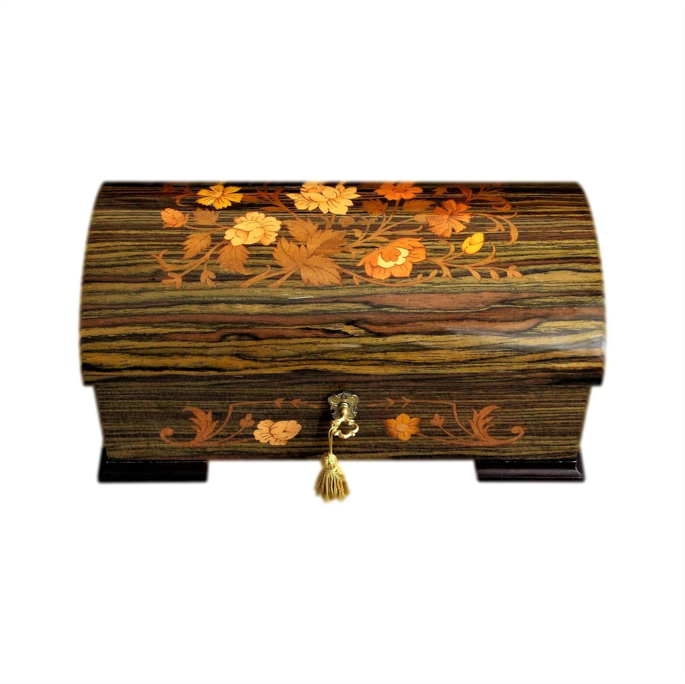 Stunning Sorrento Inlaid Vintage Musical Jewellery Box